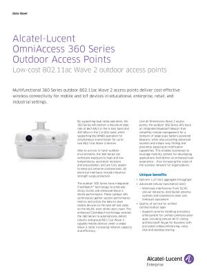 OmniAccess Wireless Access Points | Alcatel-Lucent Enterprise